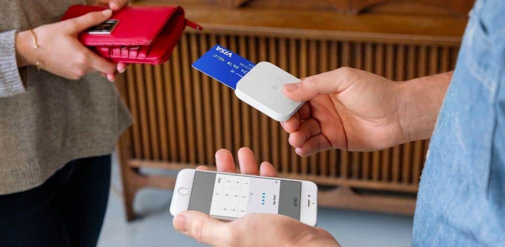 Square Reader terminal der tager imod chip betaling