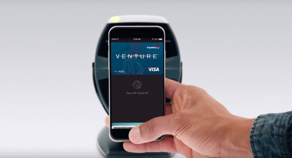 Apple Pay på en iPhone 4