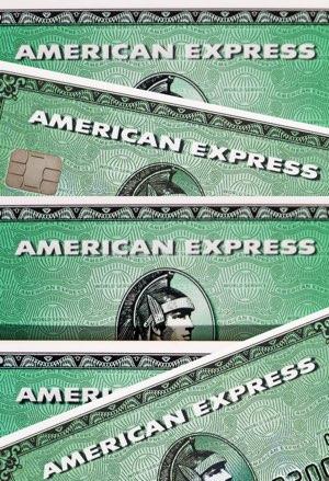 American Express logoer på flere kort