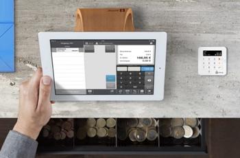 SumUp kassesystem med tablet og kortlæser