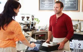 iPad kassesystem i en cafe