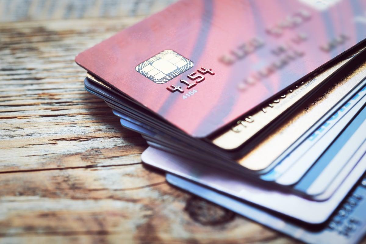 chipkort på bordflade
