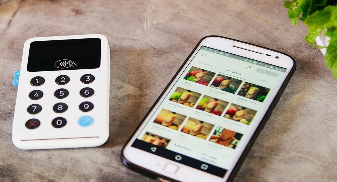 iZettle Reader med en Android telefon