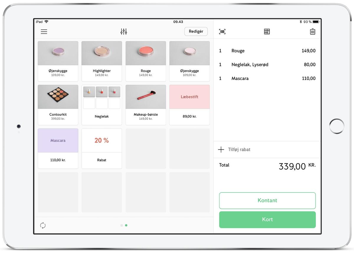 iZettle Go-app iPad-kasse